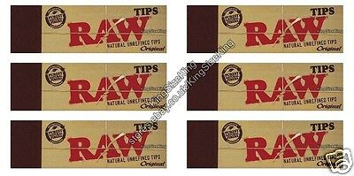 Raw Roach Filter Tips Chlorine free Filter tips/Roach (6 pack)