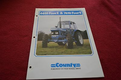 Country 6610 7610 Four E Tractor Dealer's Brochure DCPA2 Ford