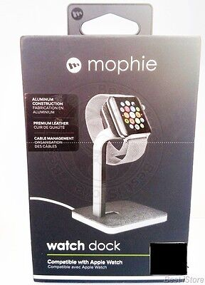 New Mophie Elegant Durable Stable Aluminum Watch Dock Made for Apple Watch