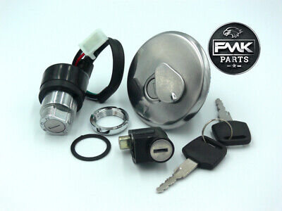 Complete Lock Set Ignition Main Switch 2 Keys Petrol Cap for Suzuki GN125 GN 125