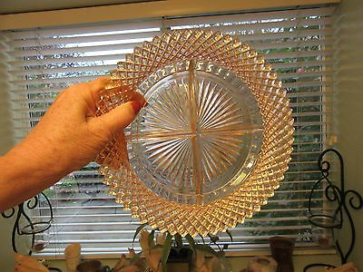 Hocking Glass Co. PINK Depression Glass Miss America Divided Relish Dish c.1935
