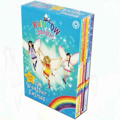 Rainbow Magic Series 2 (Books 8-14) Weather Fairies Collection 7 Books Box Set
