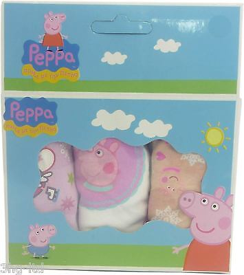Pack Of 3 Peppa Pig Girls Briefs Knickers Age 6-8 Multi Pack Set New