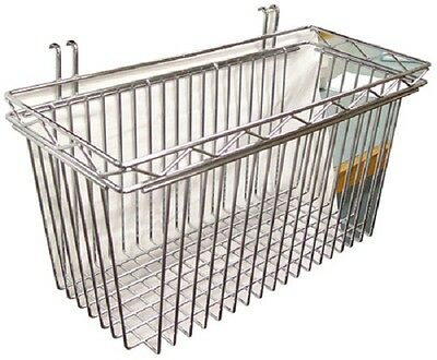All Sizes New Commercial Chrome Shelving Basket for Wired Shelving - NSF