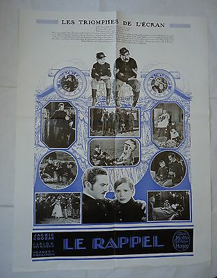 JACKIE COOGAN+CLAIRE WINDSOR/THE BUGLE CALL/french pressbook 20's
