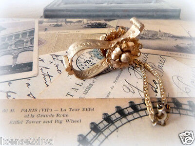 Victorian/edwardian Scarf Clip! Attach To Vintage Purse! 1800's! Estate!