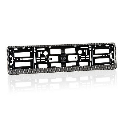 2x Audi S Line Carbon Effect Number Plate Holder Surround + Free Fixing Screws