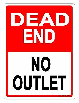 Dead End No Outlet Sign 9X12 Drive Road Private Keep Out Metal Aluminum