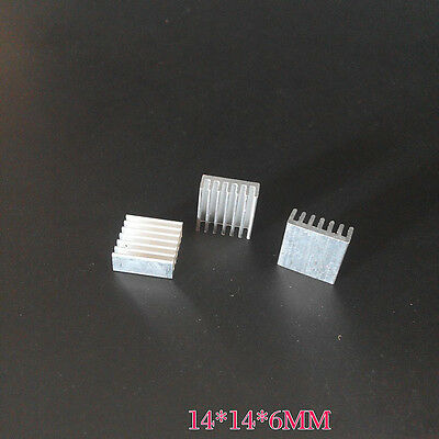 10pcs 14mm x 14mm x 6mm Aluminum Heatsink Cooler Fin for IC MOSFET
