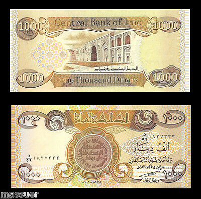 Iraq 1000 Iraqi Dinar  - 1 X 1,000  Unc. Lot Of 1 From New Bundle - Limit Of 10