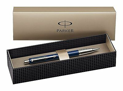 Parker Vector Standard Ballpoint Ball Pen Blue Stainless Steel Presentation Box
