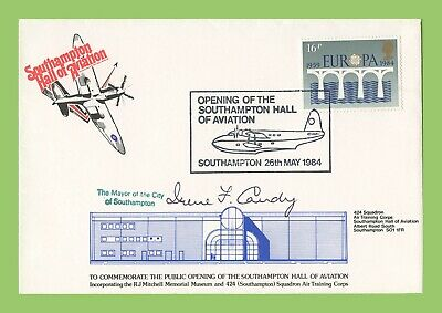 GB 1984 Opening of Southampton Hall of Aviation Commemorative Cover Mayor Signed
