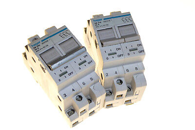 25A 32A Double pole isolator switch din rail mounted 415v Hager SB 25amp 32amp