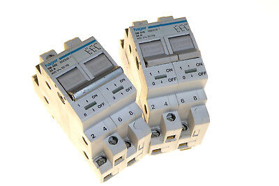 3 phase isolator switch din rail mounted 415v Hager SB 25a 32a 25amp 32amp