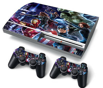PS3 Original PlayStation 3 Skin Stickers PVC for Console & 2 Pads Heroes