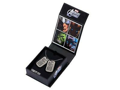 CAPTAIN AMERICA Official Steve Rogers DOG TAG REPLICAS w/ Gift Box LTD Edition