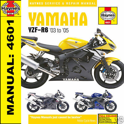 Haynes Yamaha YZF-R6 YZFR6 r6 2003-2005 Manuale Officina 4601 NUOVO