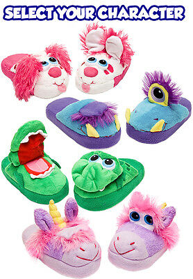 Stompeez Kids Slippers Fun Safe Soft Comfy Child Gift with FREE Lumi Dough