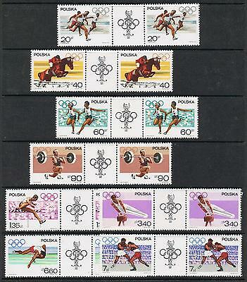 STAMPS  POLAND 1967  #SCOTT 1502 - 1509  (1968 19th OLYMPIC GAMES - MEXICO) J-13