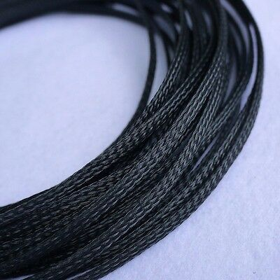 5 meters Black High Densely 10mm Expanding Matte Braided Sleeving Cable Harness