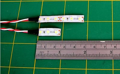 COMPACT OO SUBMINI 3 & 6 LED 9v to 12v SMD SELFADHESIVE LOW TEMP LIGHT STRIP