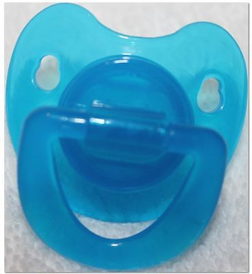 Reborn OOAK Baby Doll Boys Blue Transparent Modified Putty Pacifier