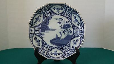 Antique Japanese 12 Sided Dish circa 1780