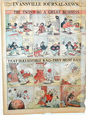 Sunday Comic PageThat Irresistible Rag-They Must Dance Black Americana 1915 A