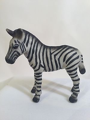 "Zebra Figurine Toy Polymer Resin 2.75"" tall"