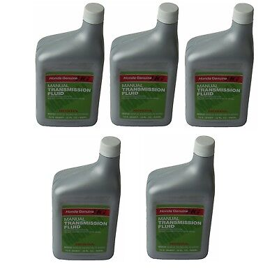 For Set of 5 Quarts Genuine Manual Trans Transmission Fluid for Acura Honda MTF