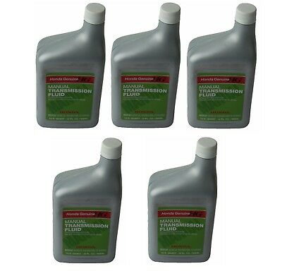 NEW Set of 5 Quarts Genuine Manual Trans Transmission Fluid for Acura Honda MTF