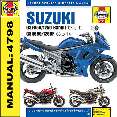 Suzuki GSF650 GSF1250 Bandit 2007 - 2014 Haynes Manual 4798 NEW