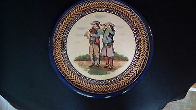 A French HB Quimper Broderie Serving Plate