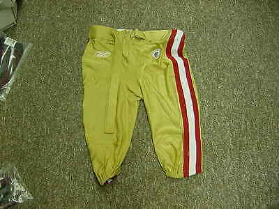 2011 San Francisco 49ers Official Game Used/Worn Football Pants size40 Reebok