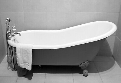 Roll Top Slipper Cast Iron Bath Windsor & Buckingham 1560mm With TH
