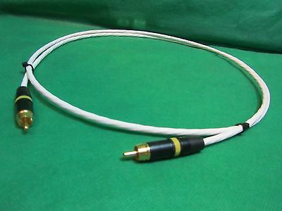 SILVER PLATED 5 FT AUDIOPHILE HEADPHONE EXTENSION CABLE 3.5mm MADE IN USA