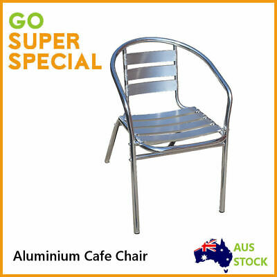 Chair Aluminium Cafe Bar, Seater Sitting Bench Stackable Outdoor Indoor Chairs