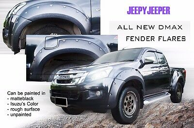 Off-Road Isuzu All New D-Max Dmax Fender Flares Flare Wheel Arch 2012 2013 2014