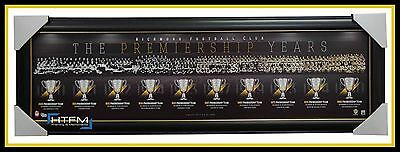 RICHMOND The Premiership Years Montage AFL Official Licensed Print Framed NEW
