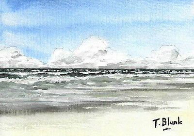 ORIGINAL AQUARELL - An der Nordsee.
