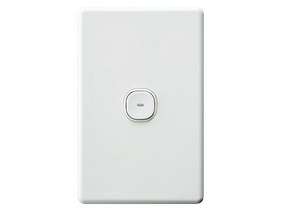 10 Clipsal Classic Impress 1 One Gang Single Push Button Light Switch LED C2031