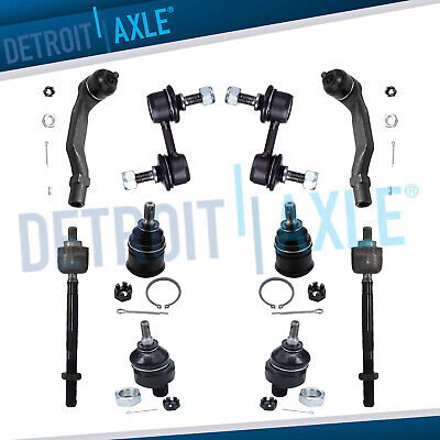 10pc Front Suspension Kit: Ball Joints Tie Rod End Links For Honda CRV 1997-2001