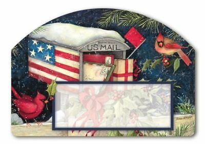 Christmas Cards Mailbox Interchangeable Magnetic Yard DeSign & Address Marker