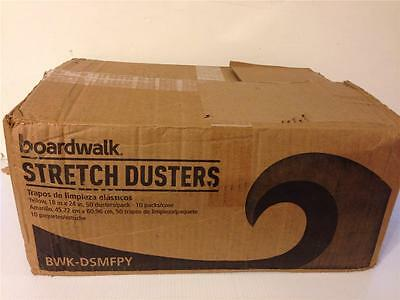 """Lot 500 Boardwalk Stretch Dusters Yellow Bwk-Dsmfpy Case 18 X 24"""" Cleaning Cloth"""