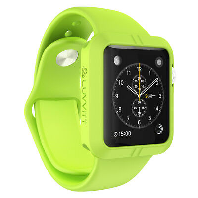 LUVVITT ULTRA ARMOR High Performance Flexible Apple Watch Case 42mm - Green