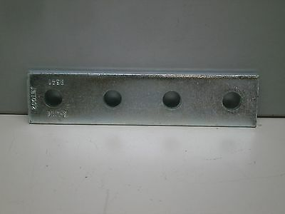 Lot of (4) Cooper B-Line B341 ZN 4H 4-Hole Splice Plate Zinc Plated