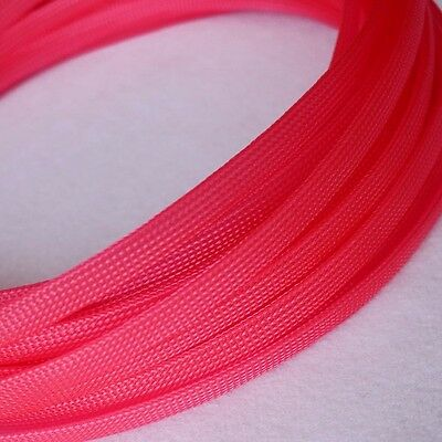 Sleeving Cable 5 Meters X 8MM Black/&Red Tube PET Expandable Braided Sleeving