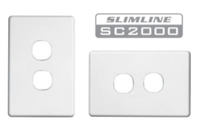 Clipsal Two ( 2 ) Gang Wall Plate Slimline Suit Double Light Switch SC2032VH
