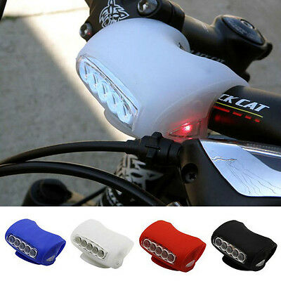 7 LED Bicycle Cycling Head Light Bike Silicone Frog Front Safety Warning Lamp AB