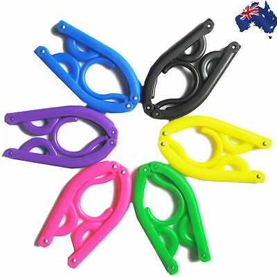4pcs Travel Camping Outdoor Portable Folding Hanger Clothes Foldable HFRAC 61